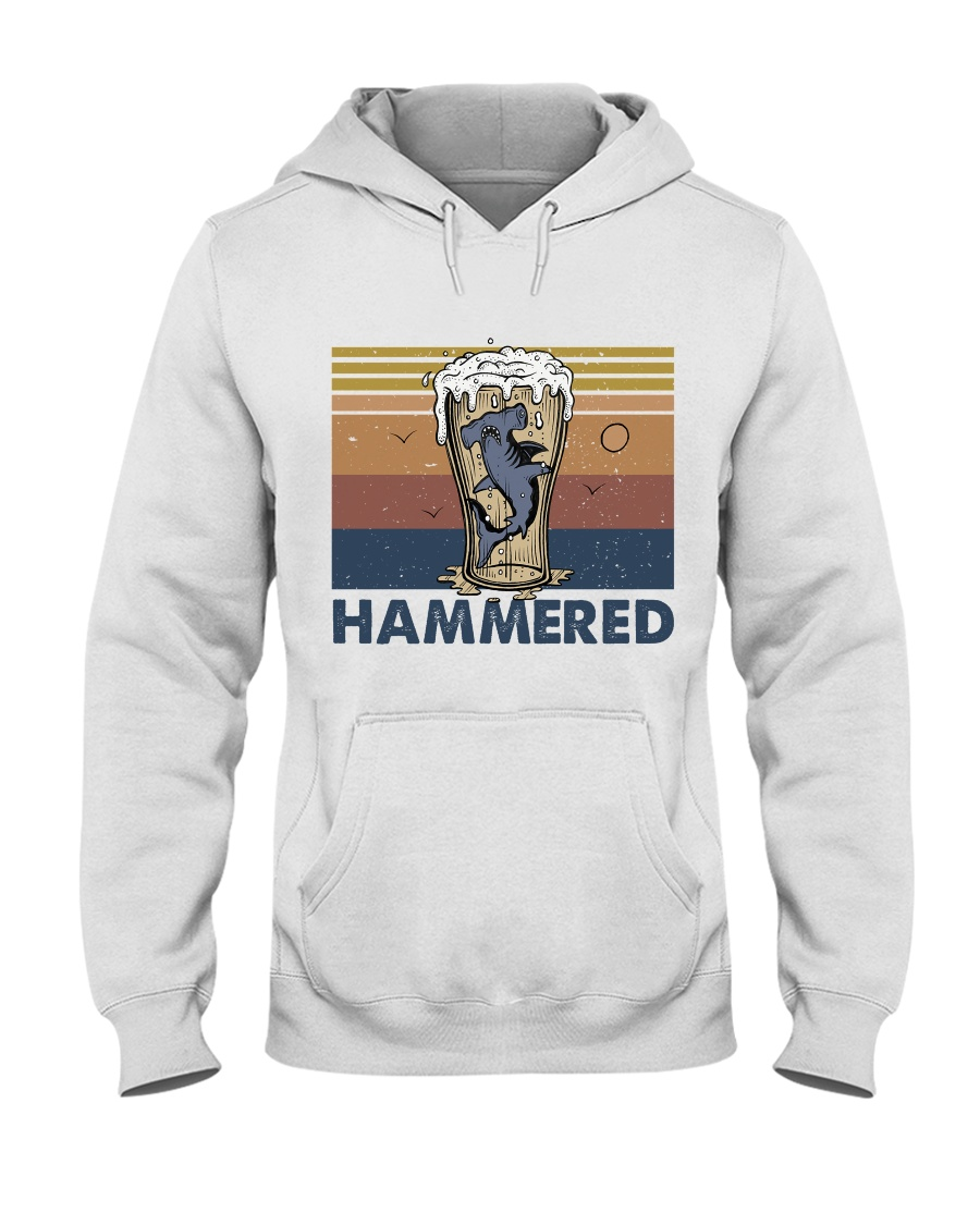 Hammered Hooded Sweatshirt