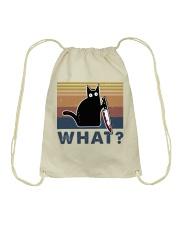 What Funny Cat Drawstring Bag thumbnail