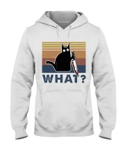 What Funny Cat Hooded Sweatshirt front