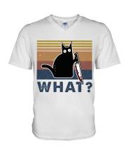 What Funny Cat V-Neck T-Shirt thumbnail