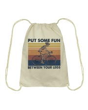 Put Some Fun Between Funny Drawstring Bag thumbnail