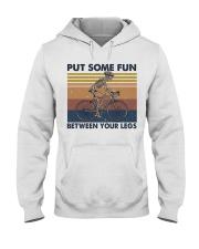 Put Some Fun Between Funny Hooded Sweatshirt front