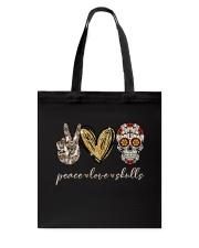 Peace Love Skulls Tote Bag thumbnail