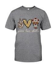 Peace Love Skulls Classic T-Shirt front