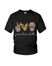 Peace Love Skulls Youth T-Shirt thumbnail