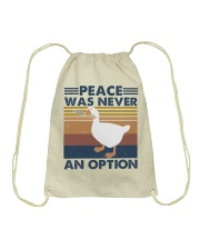 Peace Was Never An Option Drawstring Bag thumbnail