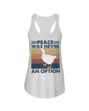 Peace Was Never An Option Ladies Flowy Tank thumbnail