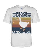 Peace Was Never An Option V-Neck T-Shirt thumbnail