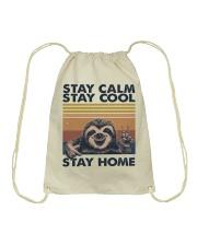 Stay Calm Stay Cool Drawstring Bag thumbnail