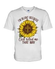 God Roll Me That Way V-Neck T-Shirt thumbnail