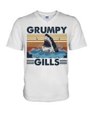 Grumpy Gills V-Neck T-Shirt thumbnail