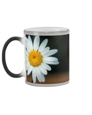Cream with Daisy Leaves Color Changing Mug color-changing-left