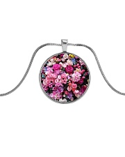 Extra dose of feminine fart - Full coverage  Metallic Circle Necklace front