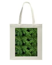 Green Natured Leaves Tote Bag thumbnail