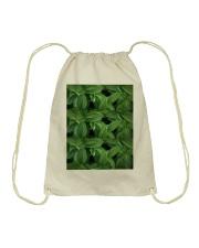 Green Natured Leaves Drawstring Bag thumbnail