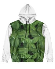 Green Natured Leaves Men's All Over Print Hoodie thumbnail