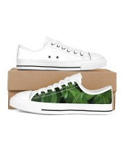 Green Natured Leaves Men's Low Top White Shoes thumbnail