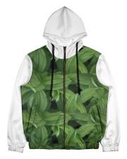 Green Natured Leaves Men's All Over Print Full Zip Hoodie thumbnail