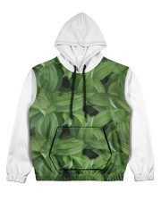 Green Natured Leaves Women's All Over Print Hoodie thumbnail
