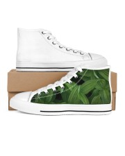 Green Natured Leaves Women's High Top White Shoes thumbnail