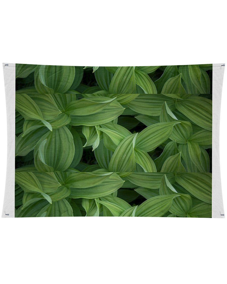 """Green Natured Leaves Wall Tapestry - 36"""" x 26"""""""