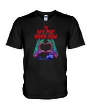 The Date Night Horror Show Official Merchandise V-Neck T-Shirt thumbnail