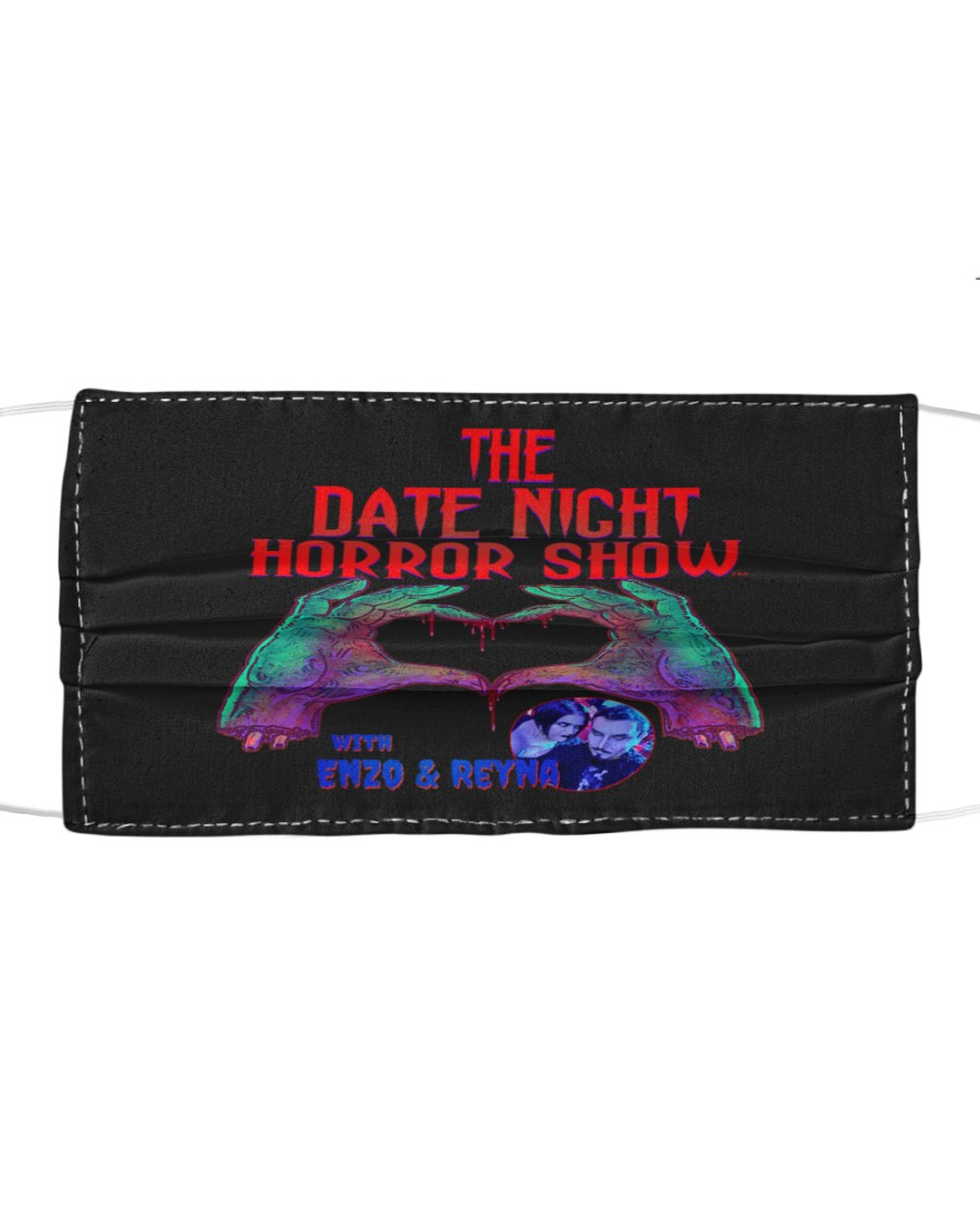 The Date Night Horror Show Official Merchandise Cloth face mask