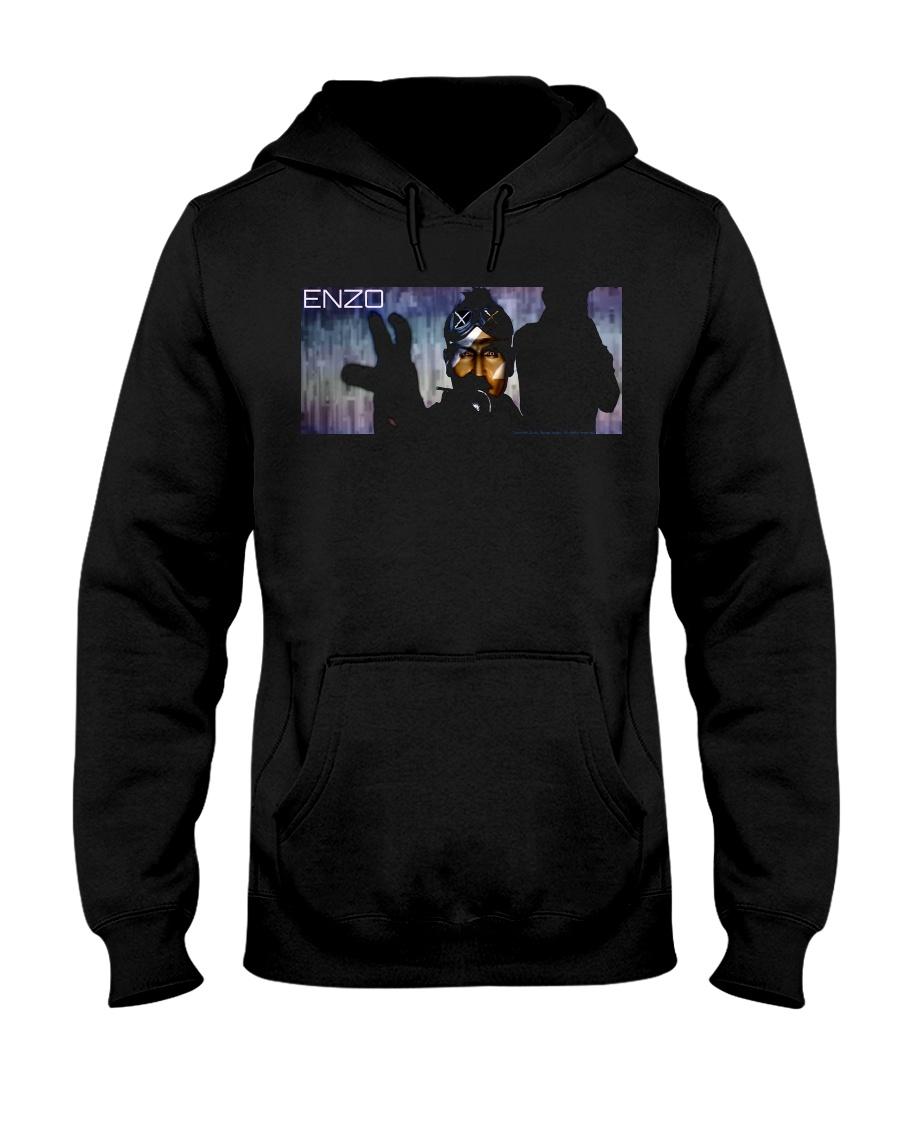 ENZO IN THE STATIC OFFICIAL MERCHANDISE Hooded Sweatshirt