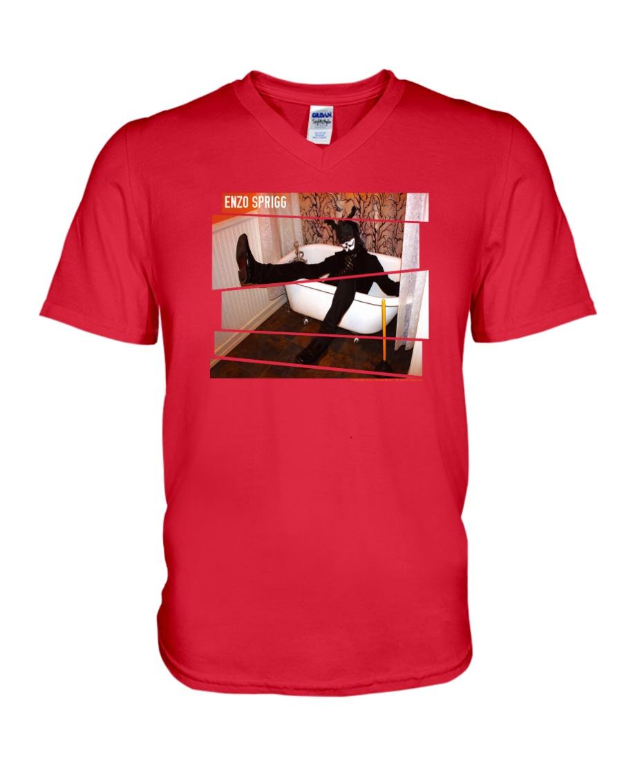 BLACK RABBIT IN A BATH TUB OFFICIAL MERCHANDISE V-Neck T-Shirt