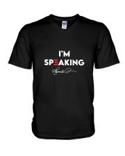 Im Speaking V-Neck T-Shirt thumbnail
