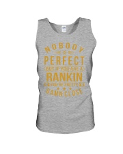 NOBODY PERFECT RANKIN NAME SHIRTS Unisex Tank tile