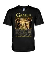 GAME-ofthrones V-Neck T-Shirt thumbnail