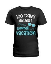 100 Days of School Closer Summer Teacher Stu Ladies T-Shirt thumbnail