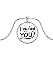 Hooked on you Metallic Circle Necklace front