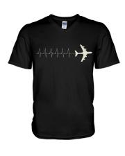 Pilot's Heartbeat V-Neck T-Shirt thumbnail
