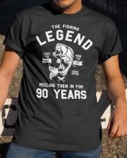 90th Birthday Gift The Fishing Legend 90 Yea Classic T-Shirt apparel-classic-tshirt-lifestyle-28