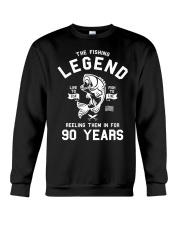 90th Birthday Gift The Fishing Legend 90 Yea Crewneck Sweatshirt thumbnail
