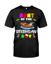 Aunt Of The Birthday Boy Funny Fishing Match Classic T-Shirt front