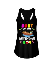 Aunt Of The Birthday Boy Funny Fishing Match Ladies Flowy Tank thumbnail