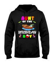 Aunt Of The Birthday Boy Funny Fishing Match Hooded Sweatshirt thumbnail