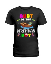 Aunt Of The Birthday Boy Funny Fishing Match Ladies T-Shirt thumbnail