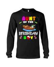 Aunt Of The Birthday Boy Funny Fishing Match Long Sleeve Tee thumbnail
