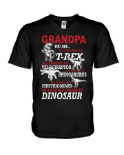 Daddy You Are My Favorite Dinosaur V-Neck T-Shirt thumbnail