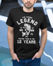 12th Birthday Gift The Fishing Legend 12 Yea Classic T-Shirt apparel-classic-tshirt-lifestyle-front-45