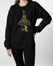 Bicycle Christmas Tree v2 Crewneck Sweatshirt apparel-crewneck-sweatshirt-lifestyle-front-09