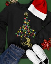 Bicycle Christmas Tree v2 Crewneck Sweatshirt apparel-crewneck-sweatshirt-lifestyle-front-21