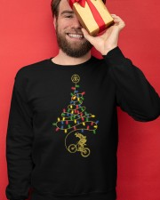 Bicycle Christmas Tree v2 Crewneck Sweatshirt apparel-crewneck-sweatshirt-lifestyle-front-22