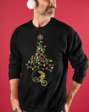Bicycle Christmas Tree v2 Crewneck Sweatshirt apparel-crewneck-sweatshirt-lifestyle-front-32