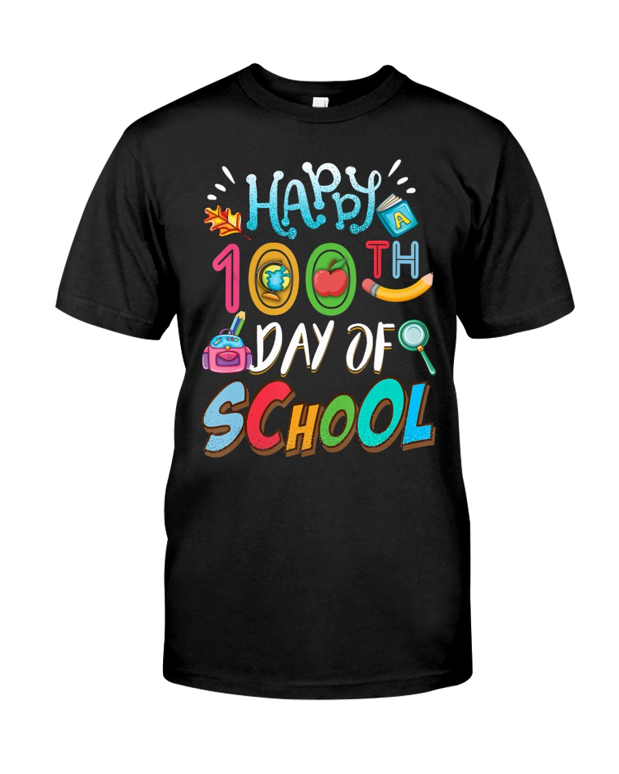 100 Days Of School Teachers And Students Boo Classic T-Shirt