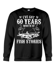 60th Birthday Fisherman T Shirt Funny Bass F Crewneck Sweatshirt thumbnail